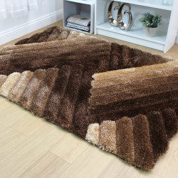 Accent Lattice Brown Bronze Rug