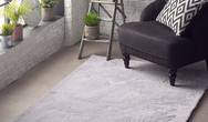 Lustrous Silver Rug