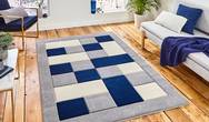Matrix Think MT04 Grey Navy Rug