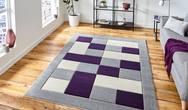 Matrix Think MT04 Grey Purple Rug