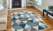 Matrix Think MT15 Grey Blue Rug