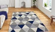 Matrix Think MT15 Grey Navy Rug