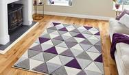 Matrix Think MT15 Grey Purple Rug