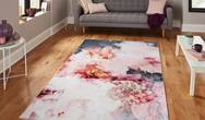 Michelle Collins Modern FLOO24 Rose Black Rug