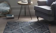 Artic Midnight Triangle Navy Rug