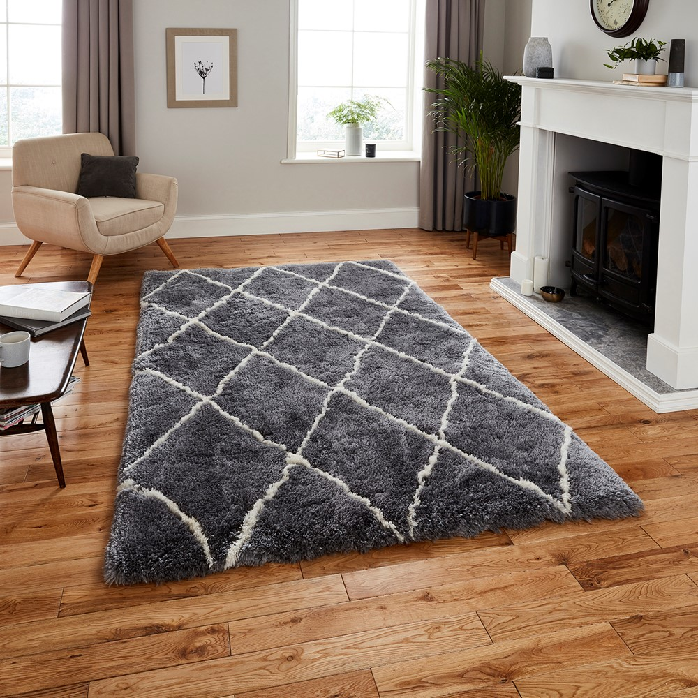 Morocco Think 2491 Grey Cream Rug