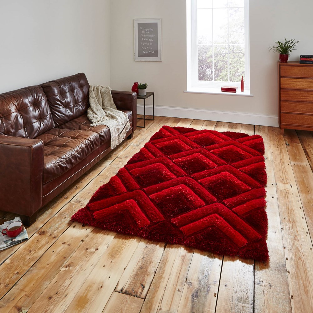 Shaggy - Noble House 8199 Red Rug