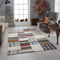 Navajo Grey Blocks Rug