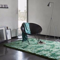 New Glamour 3303 17 Petrol Green Rug