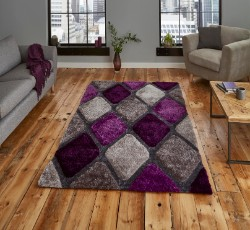 Noble House 9247 Grey Purple Rug