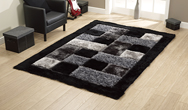 Shaggy - Noble House JR-04 Black  Rug