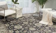 Persian Crown PC002 Charcoal Ivory Rug