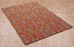 Wire - Matrix MAX37 Orange Rug
