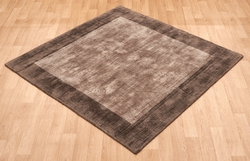 Blade Border Chocolate Mocha Rug
