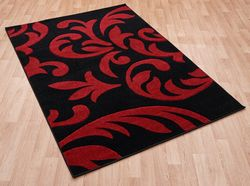 Couture Cou 09 Red Black Rug