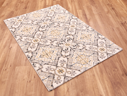 Woodstock 32691 6394 Yellow Grey Ivory Rug