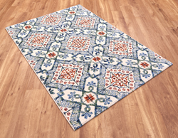 Woodstock 032 0691 6359 Blue Orange Rug