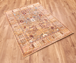 Aqua Silk b050b-Beige Orange Rug