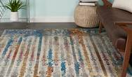 Radiant Nourison RAD02 Multicoloured Rug
