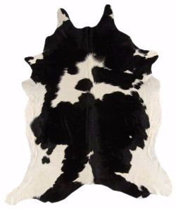Rodeo Cowhides Black and White Rug