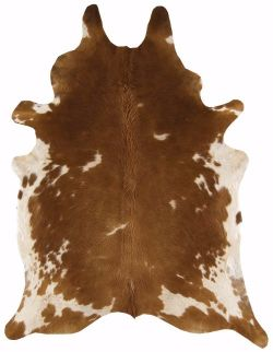 Rodeo Cowhides Brown White Rug