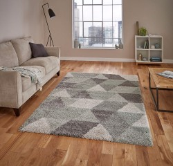 Royal Nomadic 7611 Grey Aqua Green Rug