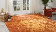 Silk Shadows SHA10 Flame Rug