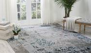 Silk Shadows SHA16 Silver Grey Rug