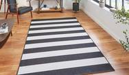 Santa Monica 48644 Black White Rug