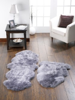 SheepSkins Hug Grey Rug