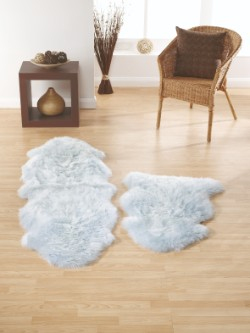 SheepSkins Hug Duck Egg Rug
