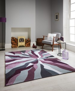 Infinite Splinter Purple Rug