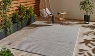 Stitch Outdoor Stitch 9683 Ivory Black Rug