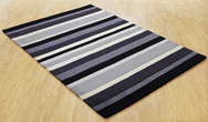 Jazz Stripes Charcoal Rug