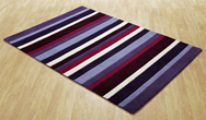 Jazz Stripes Purple Rug
