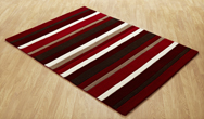 Jazz Stripes red Rug