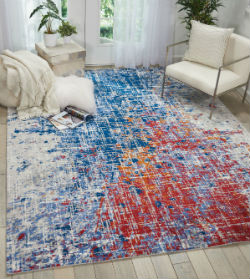 Twilight Nourison TWI25 Red Blue  Rug