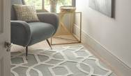Hotel Glamour Venice Grey Silver Rug