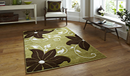 Verona OC15 Green - Brown Rug