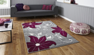 Verona OC15 Grey - Purple Rug