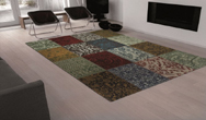 Vintage 8004 - Multi-Colour Rug
