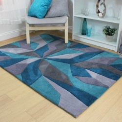 Eternity Vivid Teal Rug
