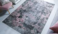 Cocktail Wonderlust Grey Pink Rug