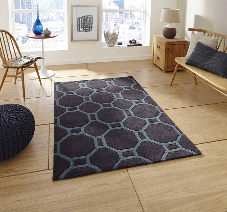 Nobel House 4338 Charcoal Blue Rug