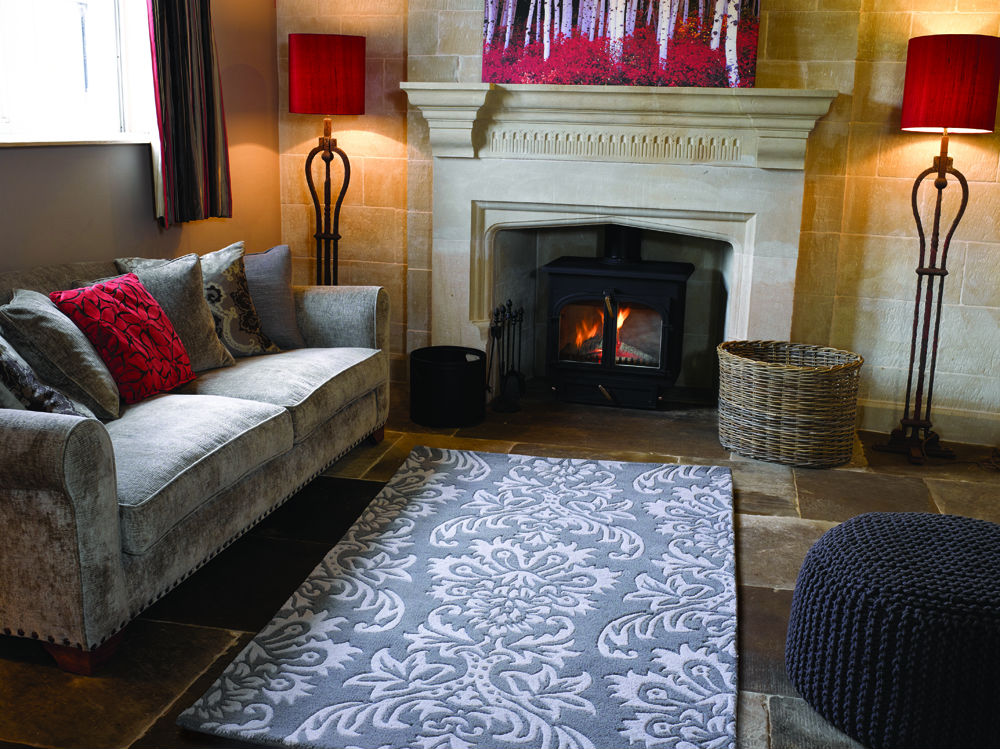 Decote Ornate Grey Rug