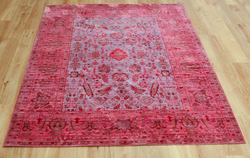 Aqua Silk e309c Brown Fuchsia Rug