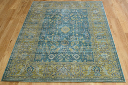 Aqua Silk e309c Green Blue Rug