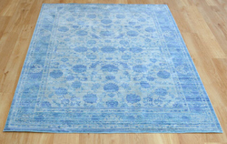 Aqua Silk e414a Blue Light Blue Rug