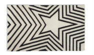 Freddie Modern Rugs Black and white Rug