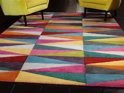 Funk Funk Triangles Rug